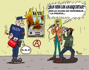 Concentración Basta de montajes y represión contra el movimiento anarquista