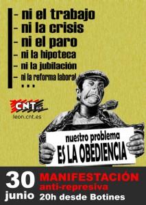 Manifestación anti-represiva 30 de junio