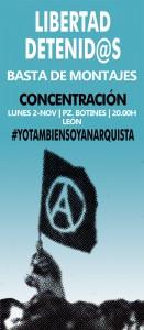 Concentración por la libertad de los detenidos anarquistas