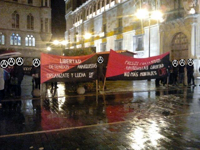 Concentración por la libertad de los anarquistas detenidos y presos