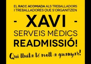 Readmisión delegado sindical RACC Serveis Medics