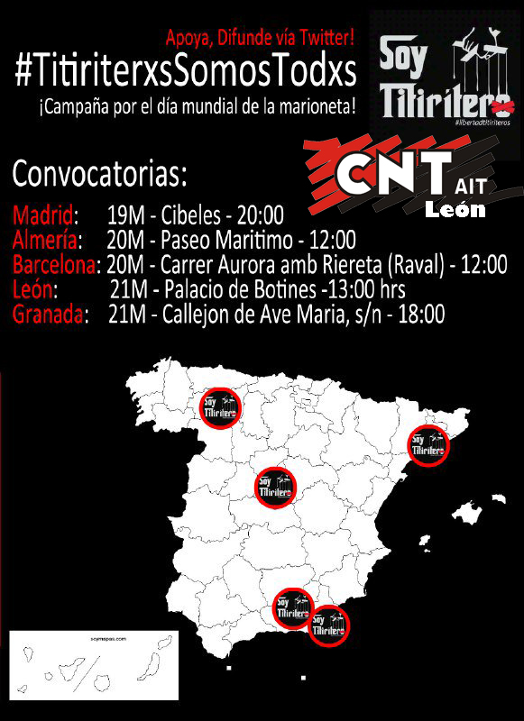 Concentración por la retirada de cargos a los dos Titiriteros detenidos en Madrid
