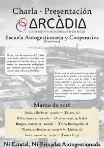 Charla-Presentación : ARCÁDIA    ( Jueves 24 de Marzo) 20:30hrs