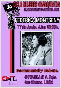 Ciclo cultural mujeres anarquistas (17 junio): FEDERICA MONTSENY