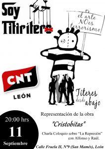 Títeres desde Abajo vuelve a los escenarios y presenta en León su nueva Obra «Cristobitas»