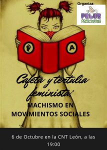 Café y tertulia «Machismo en los movimientos sociales»