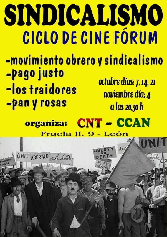 CICLO DE CINE FÓRUM «Sindicalismo»