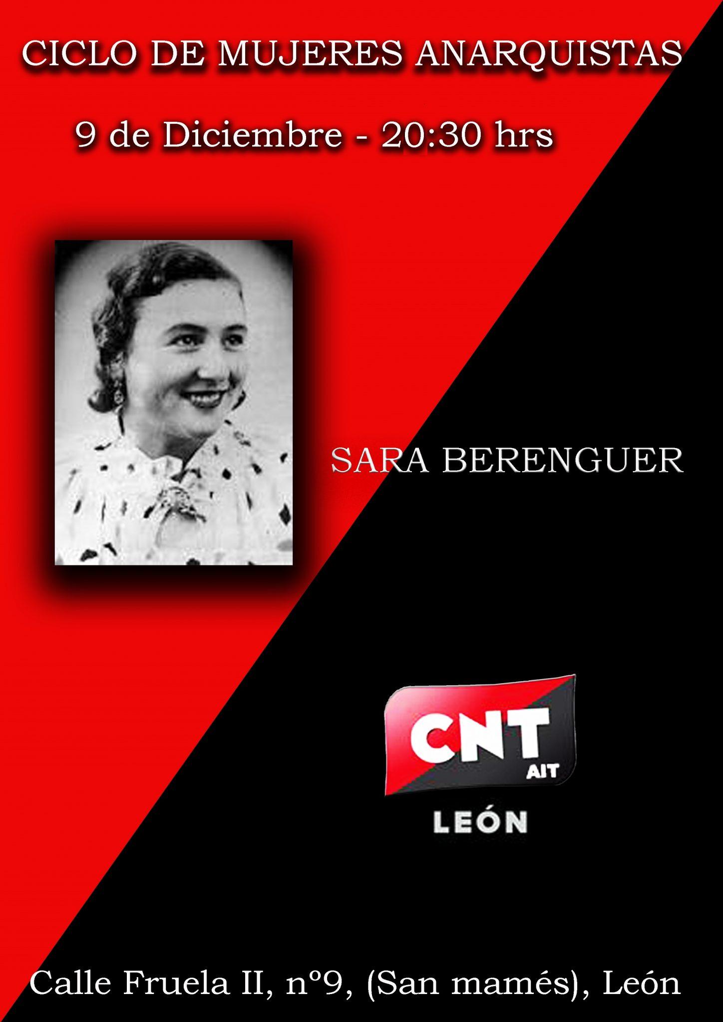 CICLO DE MUJERES ANARQUISTAS – Sara Berenguer