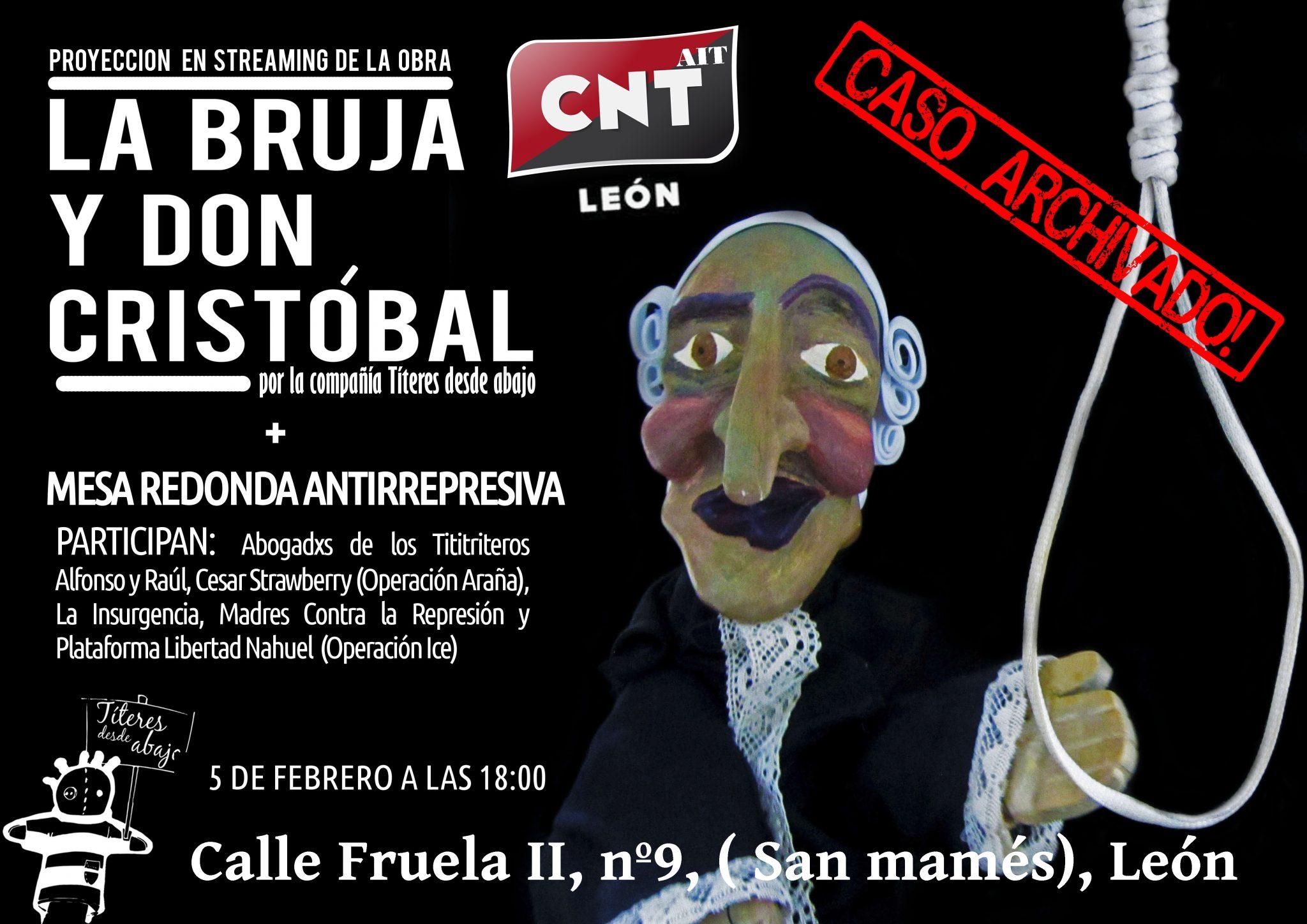 5 de Febrero – Aniversario de la detención de Titiriteros – Streaming en directo