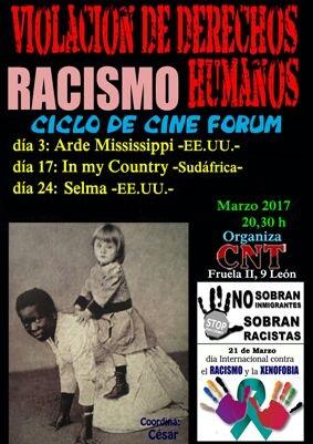 CICLO DE CINE FORUM-RACISMO