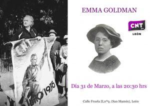 CICLO DE MUJERES ANARQUISTAS- EMMA GOLDMAN