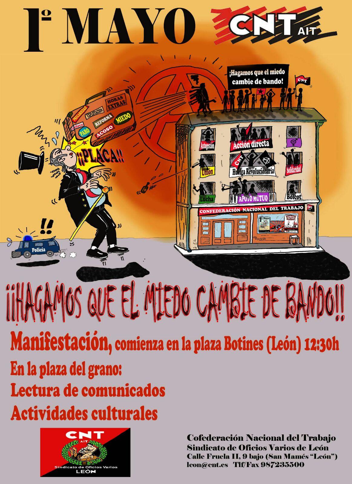 1º de MAYO- ¡HAGAMOS QUE EL MIEDO CAMBIE DE BANDO!