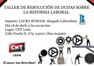 TALLER DE DUDAS SOBRE LA REFORMA LABORAL