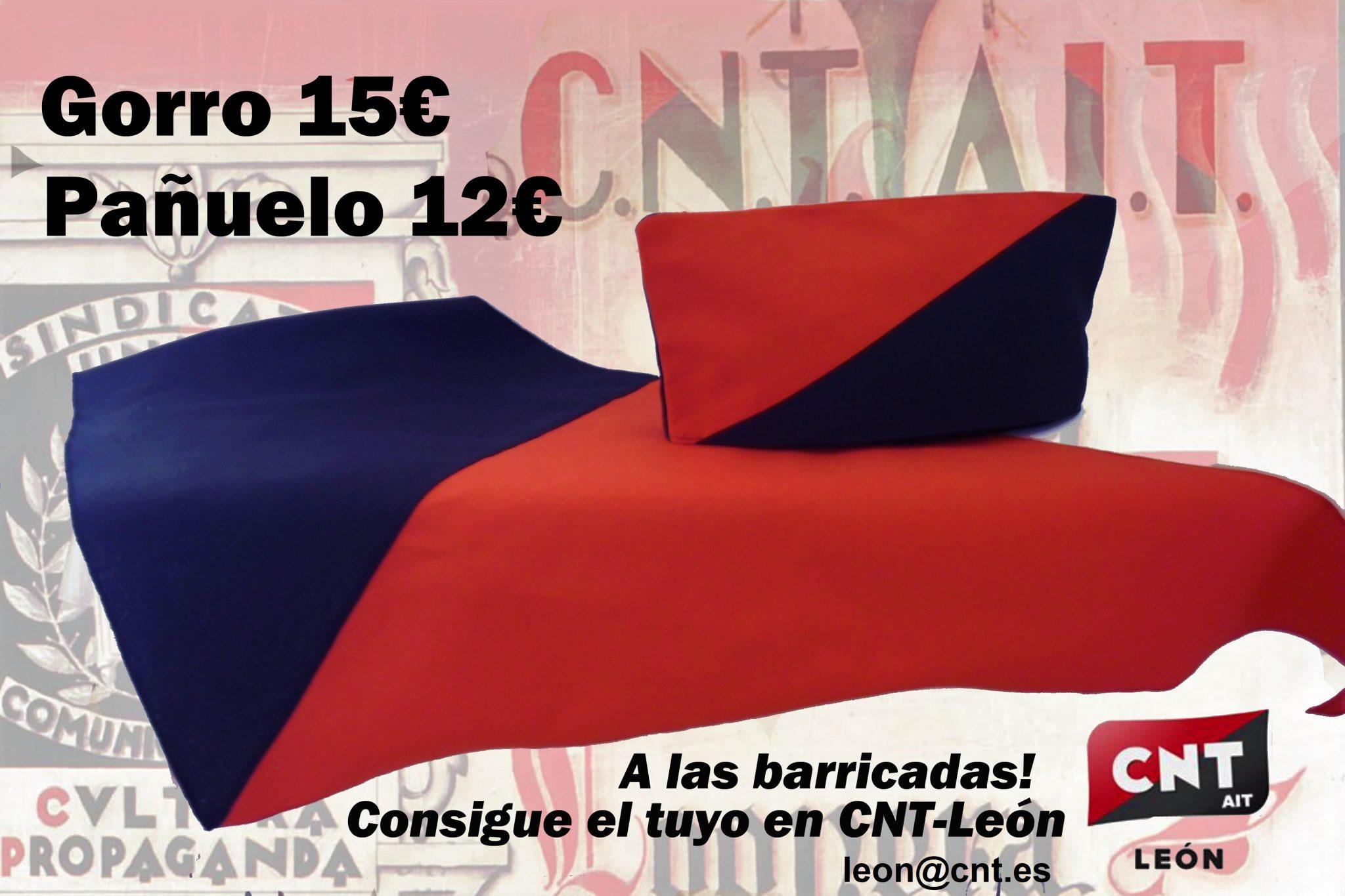 Gorros y Pañuelos milicianos del sindicato en León, CNT.
