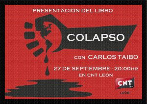 27 de Septiembre- Presentación del libro » Colapso» de Carlos Taibo