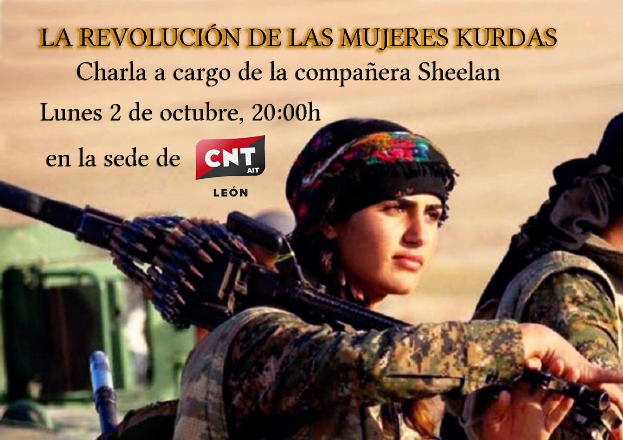 2 de octubre- Charla: «La revolución de las mujeres kurdas»