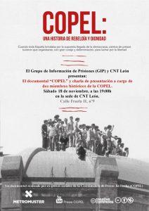 18 de noviembre: El Grupo de Información de Prisiones (GIP) y CNT León, presentan: El Documental «COPEL»