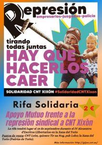 Alcuentru y CNT de León en solidaridad con lxs condenadxs de La Suiza en Gijón